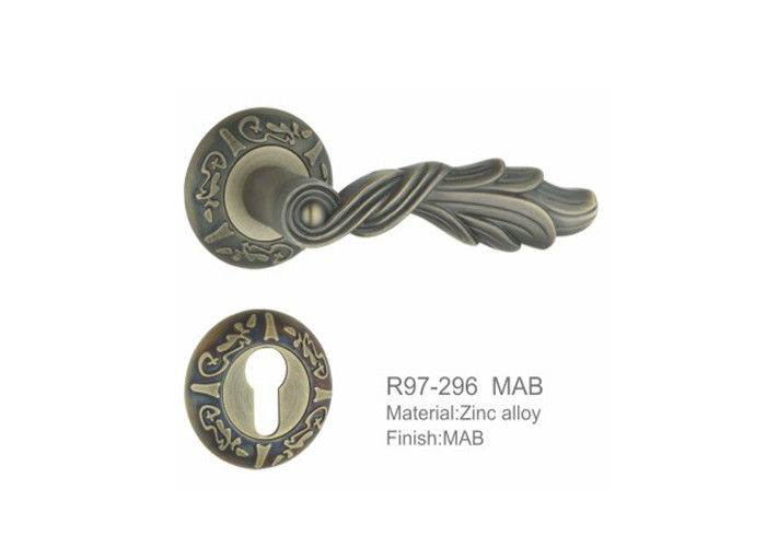 Iran fancy door handles and locks decorative Zinc alloy door handles 85mm