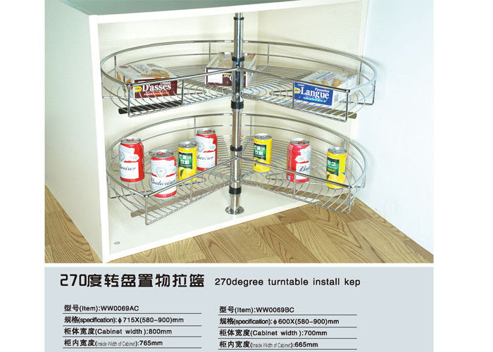 Popular Modern Kitchen Accessories Electrolysis Finished Anti Rust Stackable