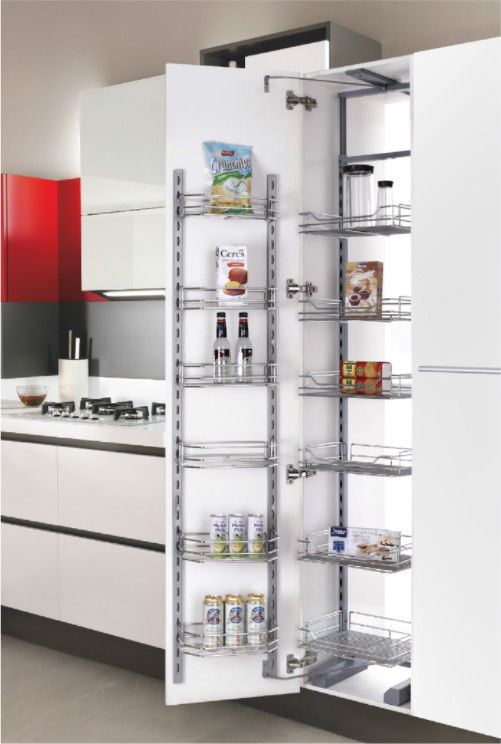 Pull Out Wire Basket Contemporary Kitchen Accessories Stainless Steel or iron Pantry Depot