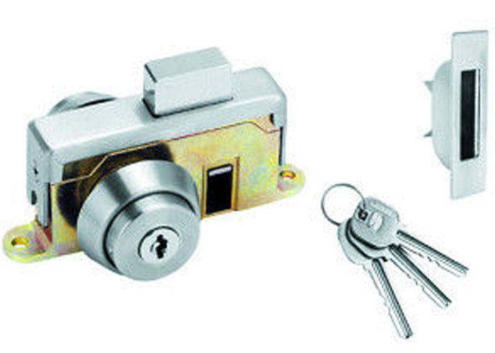 Commercial Hotel Sliding Glass Door Lock Replacement Stainless Steel Material